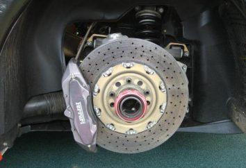 pinça de freio traseiro e sua reparação. Pistão da pinça de freio traseiro