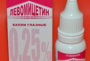 Krople do oczu Levomycitin. Wskazania i instrukcje użycia