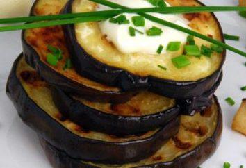 Smażony bakłażan: dania kaloryczne zależy od sposobu przygotowania