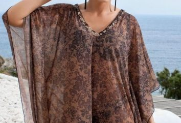 Strand-Tunika. Ihre eigenen Hände, die eine schöne und leichte Robe zu schaffen