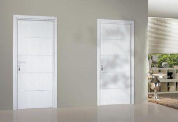 Białe drzwi w białym wnętrzu (foto)