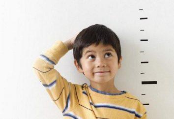 Como aumentar o crescimento da criança? Altura, peso, idade: mesa