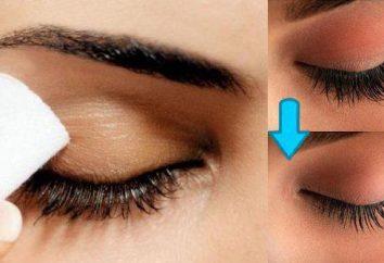 Remuver mascara: formes, instructions. Retrait de l'extension des cils