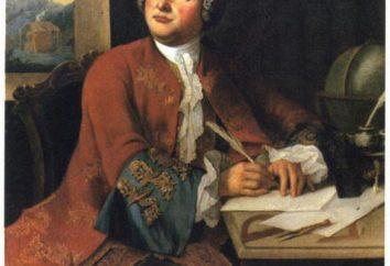 Mihail Vasilevich Lomonosov en la literatura del siglo 18