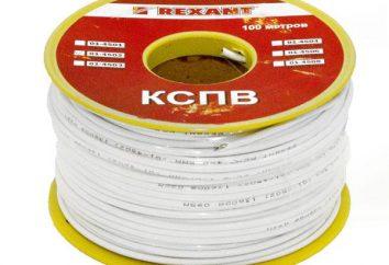 KSPV kabla: Opis, oznaczenie, dane techniczne produktu