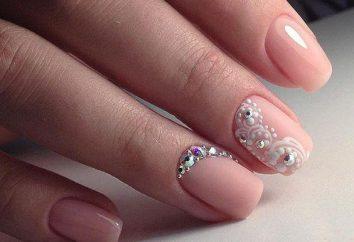 Manicure rosa con strass: idee fotografiche