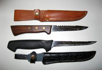 Couteau pêcheur: flottant, pliable, avec les dents pour le nettoyage du poisson