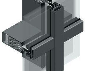sistema de acristalamiento parteluz-travesaño: producción, foto
