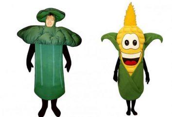 sketches drôles sur les légumes à la fête de balle d'automne ou à l'automne