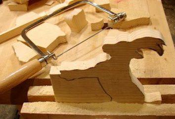 Holzschnitzerei Stichsäge mit seinen eigenen Händen