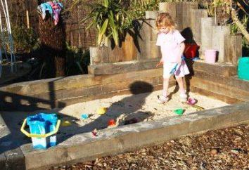 Qual deve ser o sandbox para crianças e por que é necessário?