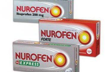 """""""Nurofen"""" un mal di testa: istruzioni per l'uso e il feedback"""