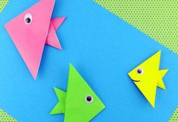 Comment faire du poisson de papier: atelier