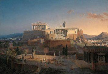 Wspaniały Parthenon w Atenach