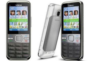 Przeglądarka Nokia C5. Dane techniczne, recenzje