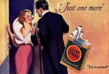 Zigaretten Lucky Strike: Ansichten und Bewertungen
