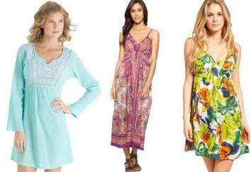 Strand-Kleid: Nähen und am Vorabend von Feiertagen stricken