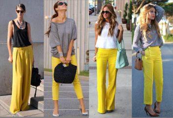 Co nosić żółte spodnie stylowy wygląd