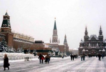 Dove andare a piedi in inverno a Mosca? Qual è la capitale della neve? Luoghi e monumenti della città