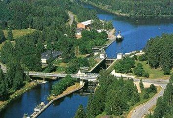 Saimensky kanał. Jezioro Saimaa. Wyborg Bay. rejsy rzeczne