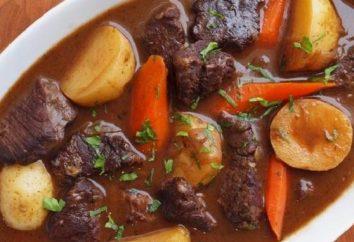 Recette pour les pommes de terre cuits avec de la viande – chaud même sur le poteau!