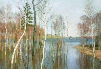 Rosyjski wiosna krajobraz: obrazy znanych artystów