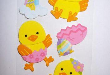 Noi applique di Pasqua con le proprie mani con i bambini