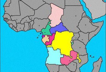 África Central: composição da região, população e economia