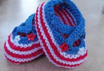 Pinets per i neonati con aghi a maglia – artigianato semplice in attesa del bambino