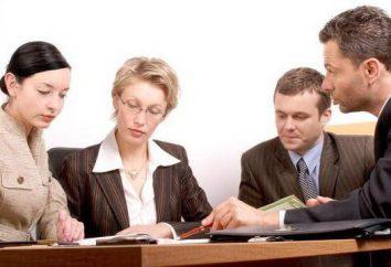 departamento jurídico: estrutura, tarefas e posições