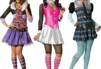 """Jak uszyć strój, """"Monster High"""" własnymi rękami. Ubrania karnawałowe dla """"Monster High"""" i akcesoria"""