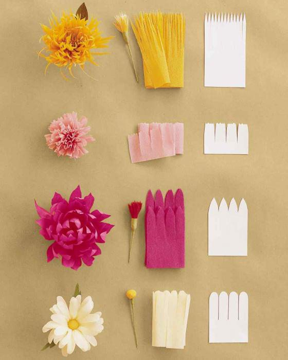 Flores De Papel Crepom Instrucoes Passo A Passo Com Fotos - Flores-de-papel-crepe