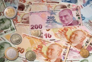 lira turca para o dólar e outras moedas