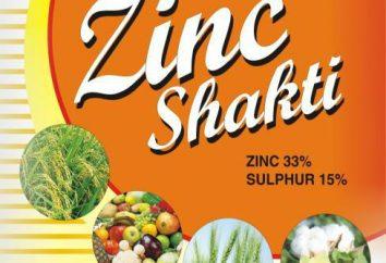 Le sulfate de zinc: inclut l'accès