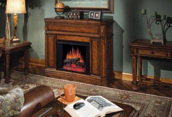 ¿Cuál podría ser el interior de una sala de estar con una chimenea en el centro de la habitación?