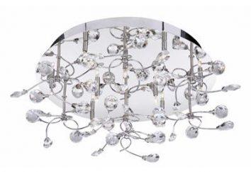 Lustres halogènes au plafond: style et beauté