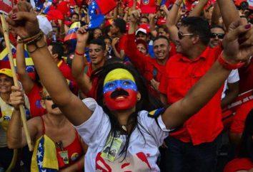 population vénézuélienne. Le nombre et le niveau de vie