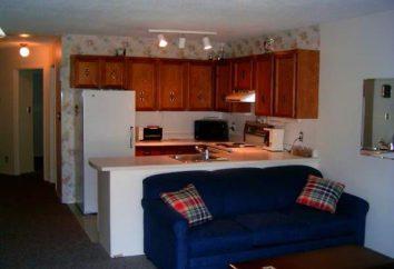 canapé-lit dans la cuisine – grande pour les petits appartements