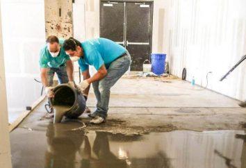 Fließestrich auf einem Betonboden: die Wahl der Materialien und Technologie