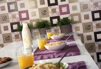matériaux populaires pour les murs dans la cuisine