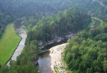 Cascada Kuperlya. Cascada en Rusia, Kuperlya río (Bashkiria)