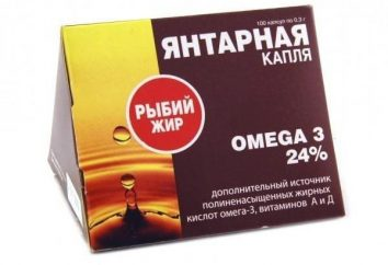 """L'olio di pesce """"Ambra drop"""". Descrizione e uso del farmaco"""