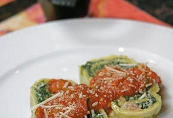 Authentique cannelloni italienne – qu'est-ce? Pâtes alimentaires farcies ou petits pains?