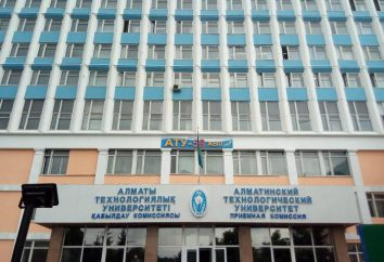 Almaty Technological University: Spezial- und Fakultäten