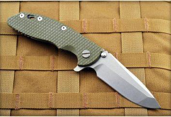 Couteau pliant automatique: types, les fabricants