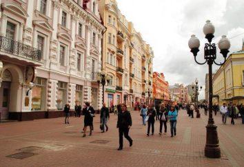 Arbat, Moscou: pontos turísticos. Tour do Arbat