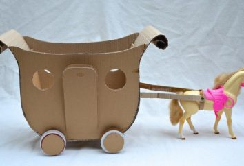 A carruagem com suas próprias mãos feito de papelão, papel: desenhos, master class
