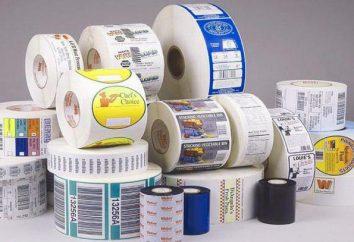 Etykiety samoprzylepne na arkuszu A4 i rolki. Drukowanie etykiet na papierze samoprzylepnym