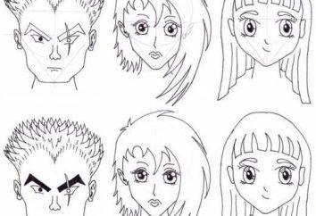Jak narysować twarz anime? Anime osoba ołówek