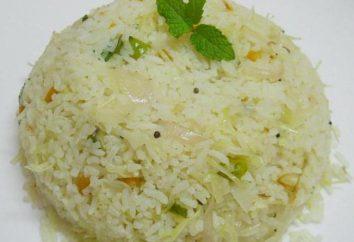 La cuisson du riz avec du chou
